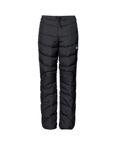 Пуховые черные утепленные спортивные брюки Jack Wolfskin