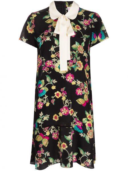 Платье мини с цветочным принтом на молнии Redvalentino
