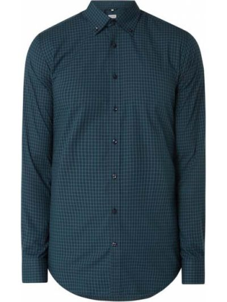 Zielona koszula bawełniana z długimi rękawami Seidensticker