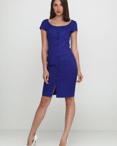 Платье на пуговицах - синее Кристина Мамедова