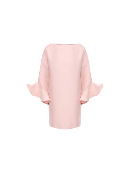 Платье мини розовое шелковое Valentino
