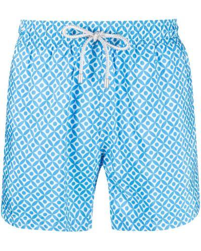 Niebieskie spodenki do pływania z printem Bluemint