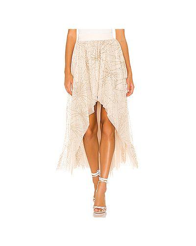 Бежевая юбка тюльпан с поясом свободного кроя Free People