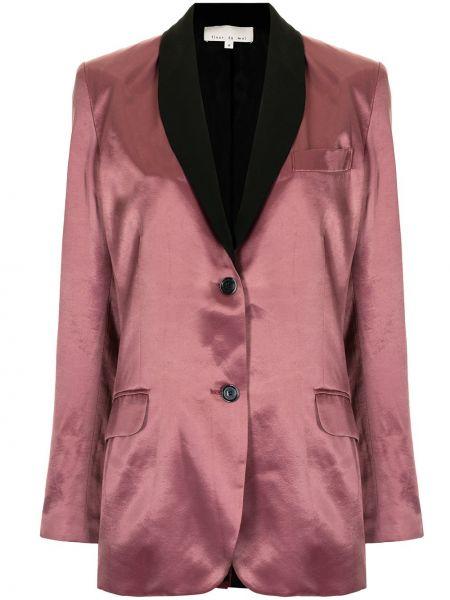 Шелковый однобортный красный удлиненный пиджак Fleur Du Mal