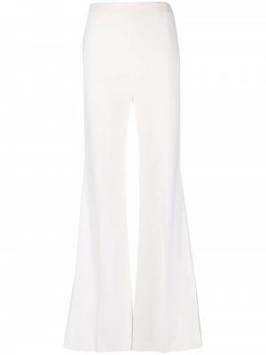 Białe spodnie z wiskozy rozkloszowane Roland Mouret