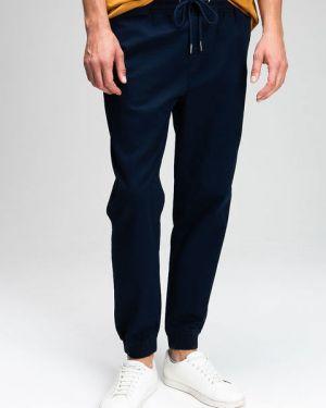 Кожаные темно-синие брюки с карманами Ostin