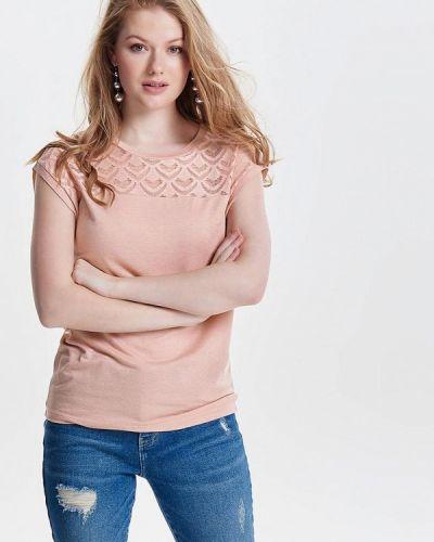 Блузка с коротким рукавом розовый весенний Only