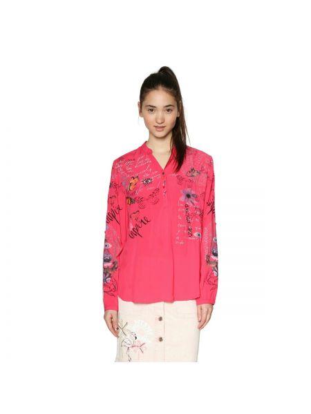 Блузка с длинным рукавом с V-образным вырезом с цветочным принтом Desigual