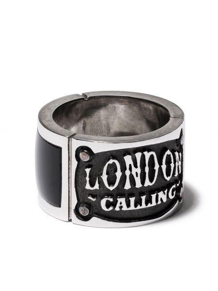 Кольцо с ониксом - серебряное Stephen Webster