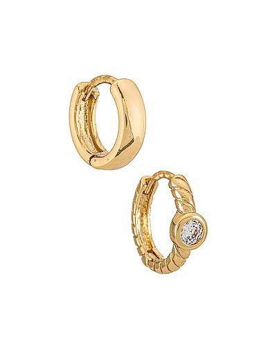 Маникюрный набор металлический золотой с камнями Eight By Gjenmi Jewelry