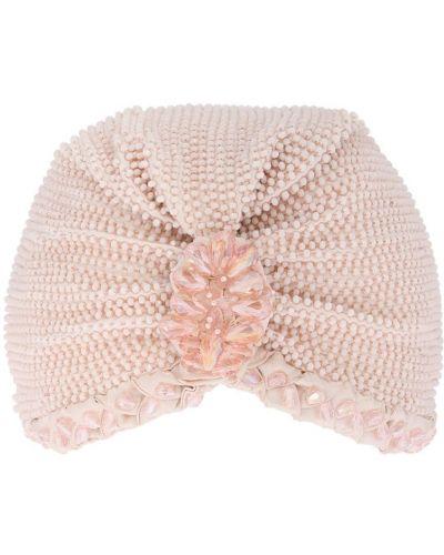 Różowy turban z wiskozy Mary Jane Claverol