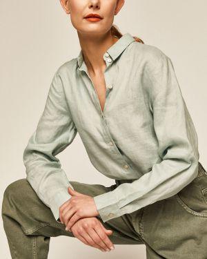 Klasyczna koszula materiałowa turkusowa Medicine