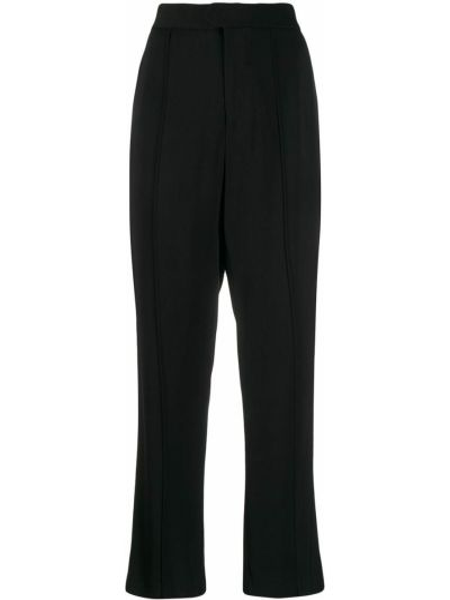 Прямые черные брюки с карманами Yang Li
