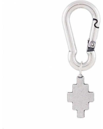 Серебряный крест на крючках металлический Marcelo Burlon. County Of Milan