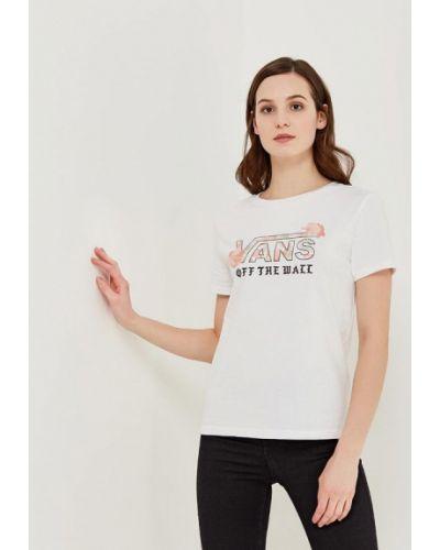 Белая футболка Vans