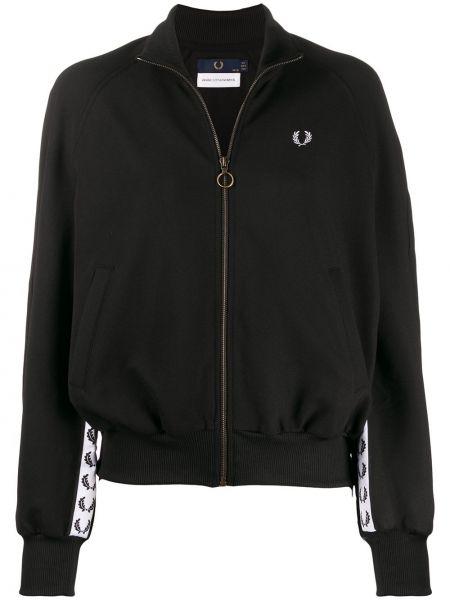 Длинная куртка с карманами черная Fred Perry