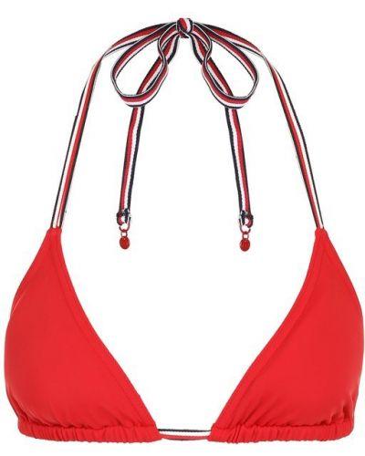 Красный купальник с треугольными чашечками Tommy Hilfiger