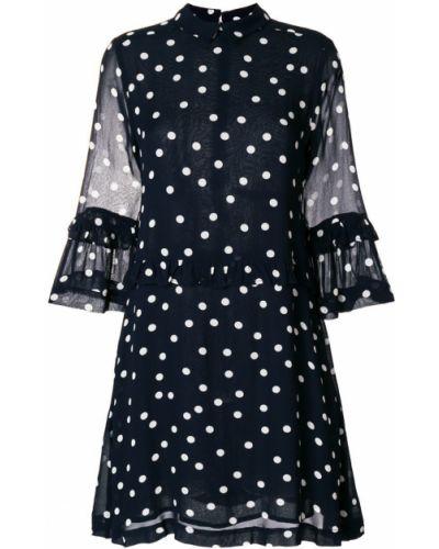 Платье в горошек из вискозы Ganni