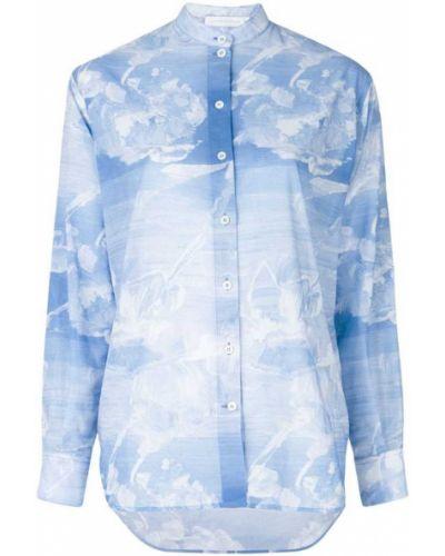 Рубашка с длинным рукавом с воротником-стойкой Victoria Beckham