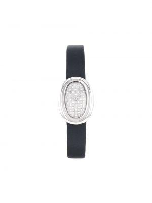 Текстильные черные с ремешком кварцевые часы Cartier