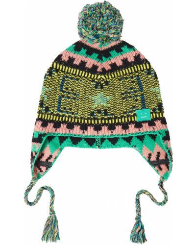 Шерстяная шапка бини - желтая Acne Studios