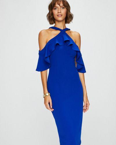 Платье миди с оборками с узором Answear