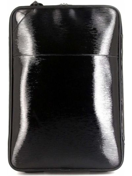Skórzany czarny walizka z kieszeniami Louis Vuitton