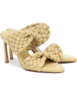 Кожаные туфли классические жёлтые Bottega Veneta