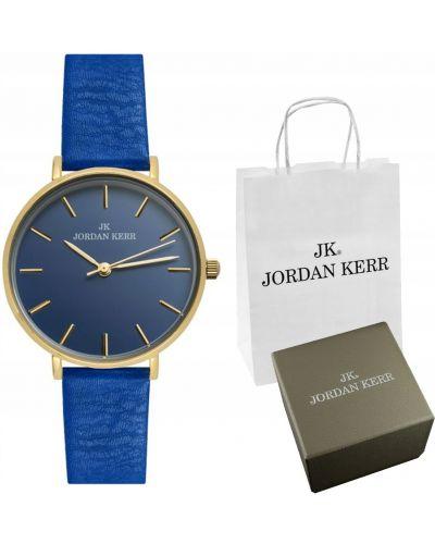 Niebieski klasyczny złoty zegarek Jordan Kerr