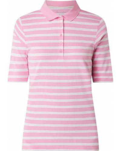 Różowy t-shirt w paski bawełniany Christian Berg Women