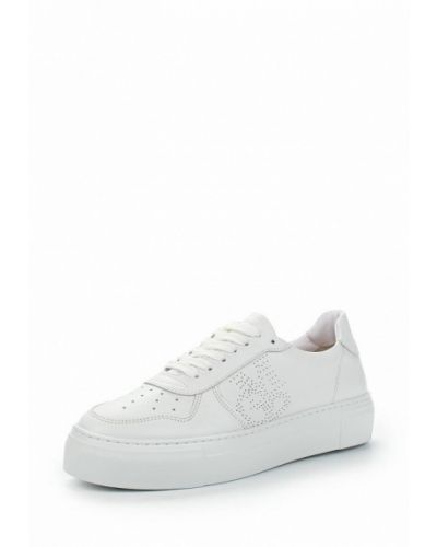 Белые кожаные кеды Marc O'polo
