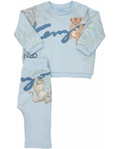 Флисовый свитшот - синий Kenzo Kids