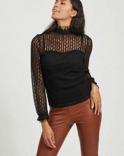 Черная кружевная блузка Vila