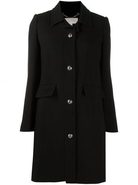 Однобортное черное пальто классическое с воротником Michael Michael Kors