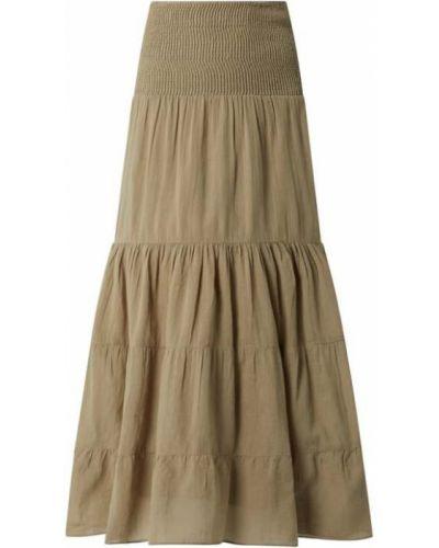 Długa spódnica bawełniana - zielona Saint Tropez