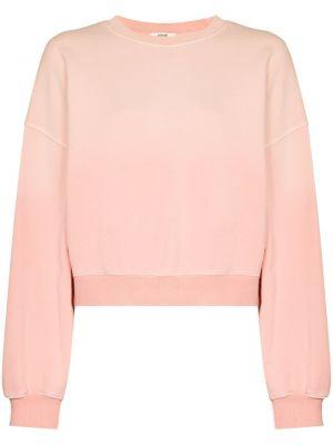 Bawełna bawełna różowy bluza z mankietami Agolde