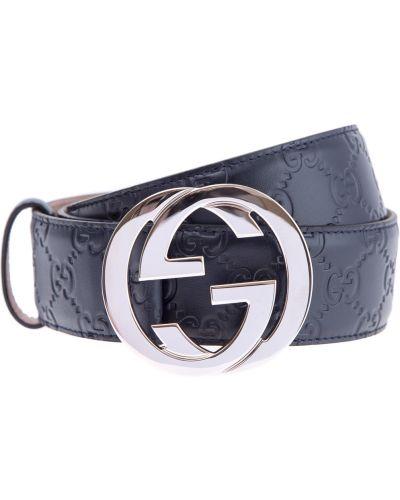 Ремень металлический с тиснением Gucci