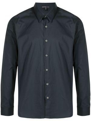 Длинная рубашка - синяя James Perse