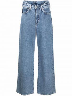 Широкие джинсы с завышенной талией - синие Levi's®  Made & Crafted™