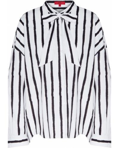 Хлопковая блузка - белая Hugo Boss
