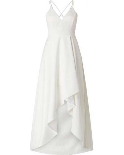 Biała sukienka wieczorowa rozkloszowana z dekoltem w serek Jake*s Cocktail