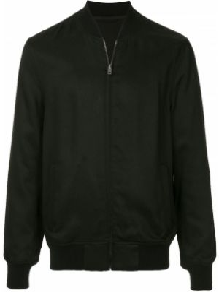 Prążkowana czarna długa kurtka z długimi rękawami Kent & Curwen