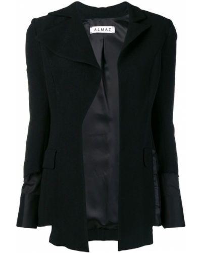 Прямая черная длинная куртка Almaz