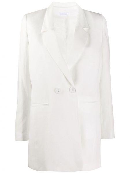 С рукавами белый удлиненный пиджак на пуговицах с лацканами Anine Bing