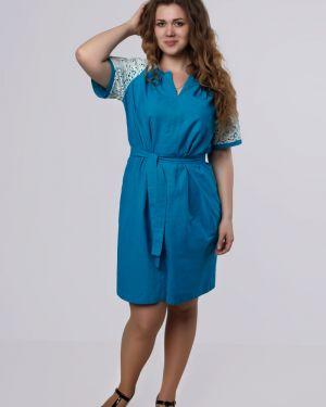 Платье с поясом с бисером с V-образным вырезом Dream World
