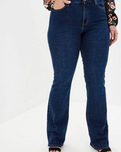Широкие джинсы расклешенные синие Violeta By Mango