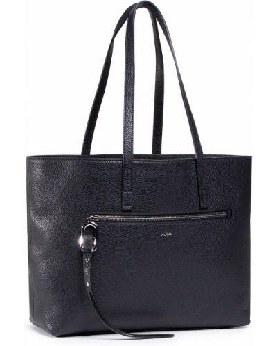 Czarny torba na zakupy z ozdobnym wykończeniem Hugo