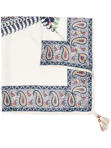 Шелковый платок с кисточками Etro
