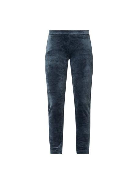 Plusz spodni niebieski spodnie-banany z kieszeniami Banana Moon