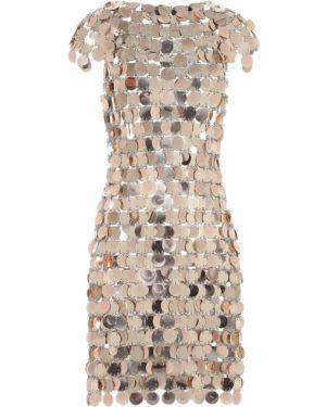 Платье мини с пайетками Paco Rabanne